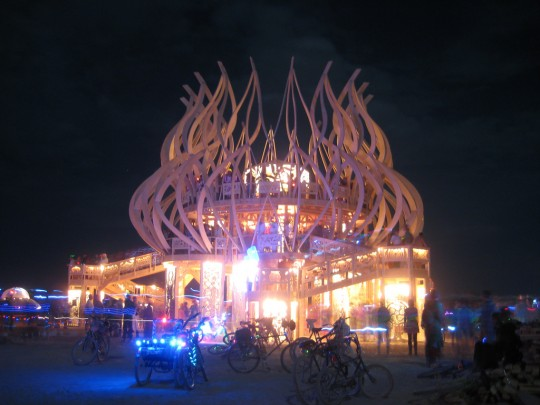 Burning Man Temple in Black Rock City