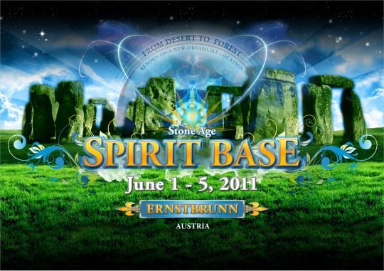 Spirit Base 2011 Psychedelic Trance Festival Flyer