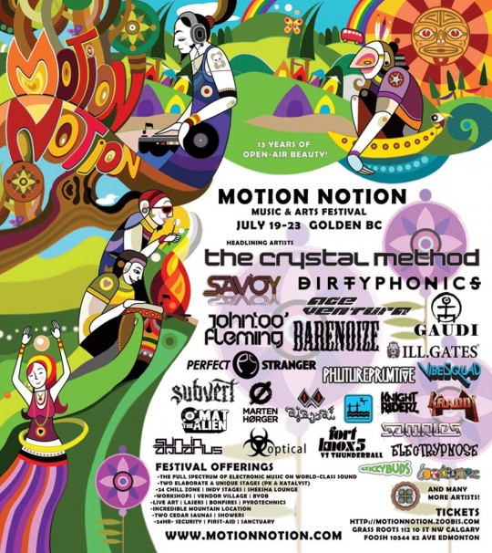 Motion Notion 2012 Canada Festival with Crystal Method Ace Ventura John 00 Fleming